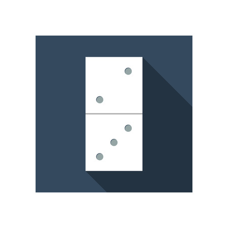 domino: Flat icon domino with long shadow Illustration