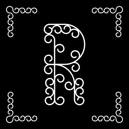 r: Vector letter R of the alphabet!