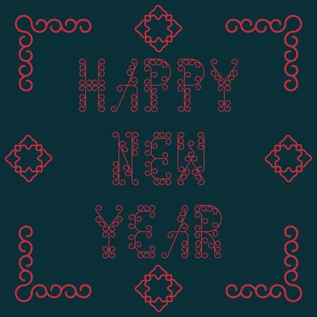 sheepskin: Happy New Year. Vector illustration