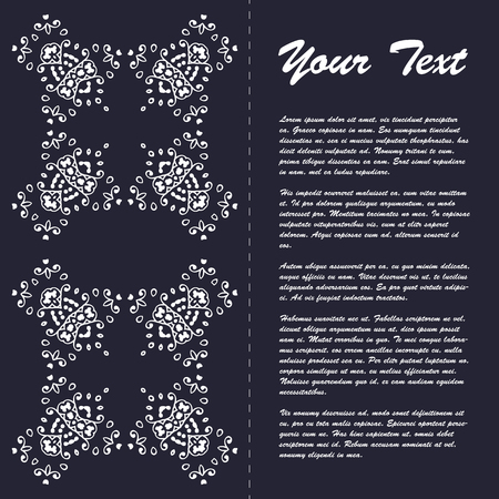proclamation: Vintage style brochure template design with modern art eastern elements and ornament, pages layouts in color, classic colors and creative solutions for design and decoration - postcard, menus and more