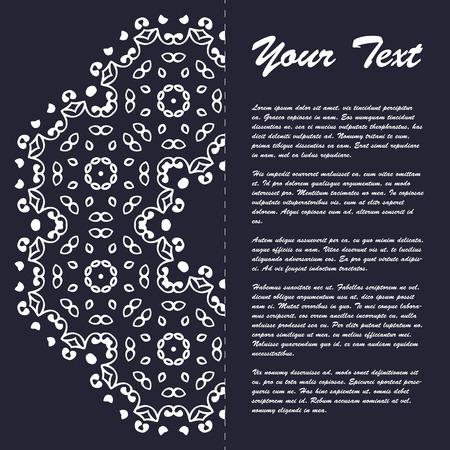 color in: Diseño de estilo folleto plantilla del vintage con elementos de arte moderno del este y el ornamento, páginas diseños en color, colores clásicos y soluciones creativas para el diseño y la decoración - postal, menús y más Vectores