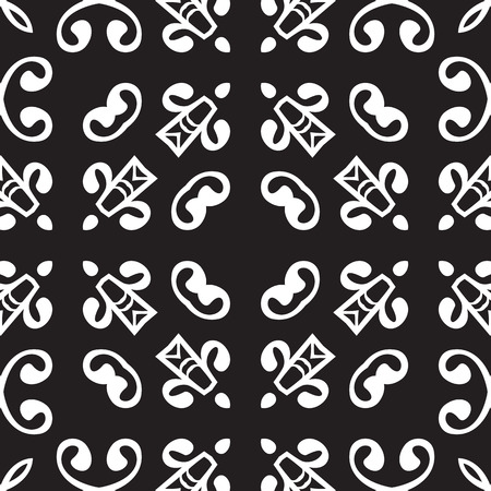 white tile: Universal different vintage eastern patterns (tiling). Endless texture can be used for wallpaper, pattern fills, web page background,surface textures. Retro monochrome geometric ornament. Illustration