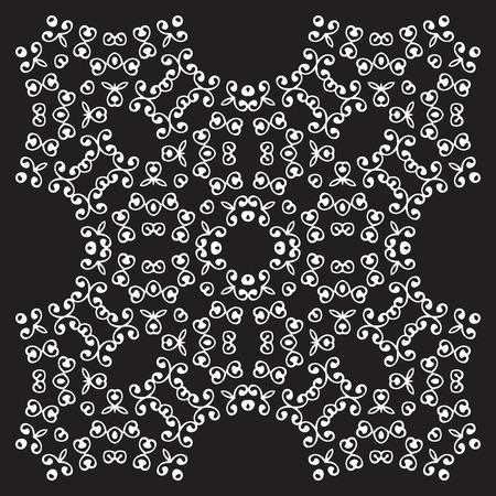 line art: diferentes patrones universales de la vendimia del este (mosaico). Textura fin se puede utilizar para fondos de escritorio, patrones de relleno, de fondo p�gina web de texturas de superficie. blanco y negro retro del ornamento geom�trico. Vectores