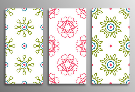 used ornament: Set Vintage universal different seamless eastern patterns (tiling). Endless texture can be used for wallpaper, pattern fill, web page background, surface textures clothes. Retro geometric ornament. Illustration