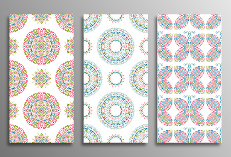 retro wallpaper: Set Vintage universal different seamless eastern Patterns (tiling). Endless texture can be used for wallpaper, pattern fill, web page background, surface textures clothes. Retro geometric ornament. Illustration