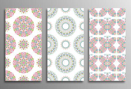Set Vintage universele verschillende naadloze oosten van patronen (tegels). Endless textuur kan worden gebruikt voor behang, patroon fill, webpagina achtergrond, oppervlaktestructuren kleren. Retro geometrische versiering.