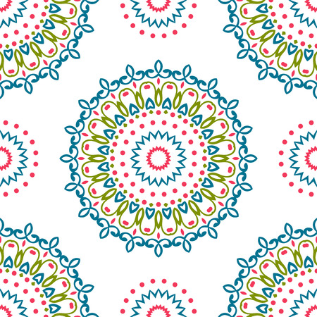 used ornament: Vintage universal different seamless eastern patterns (tiling). Endless texture can be used for wallpaper, pattern fill, web page background, surface textures clothes. Retro geometric ornament. Illustration