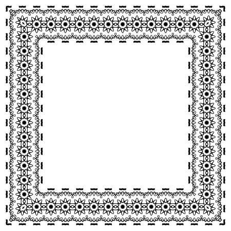 Decorative vintage frame. motif vecteur de frontière