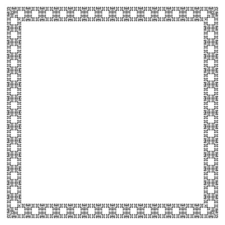 boarders: Decorative vintage frame. Border pattern vector Illustration