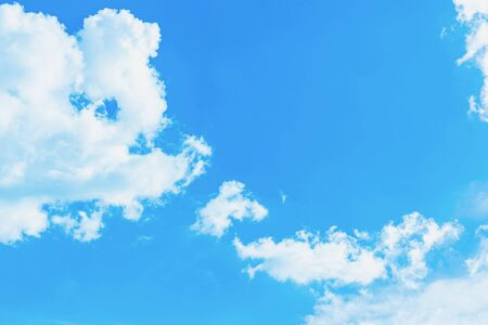 The sky is blue with clouds