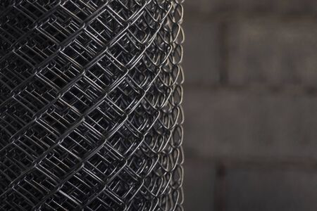 Wire mesh roll background image