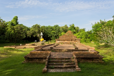 Old Historical Ruin, Tourist Attraction at Wiang Kum Kam in Chiangmai Thailand. photo
