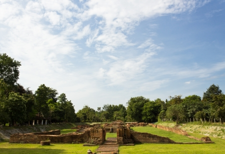 costruction: Ancient Ruins at Wiang Kum Kam in Chiangmai Thailand. Stock Photo
