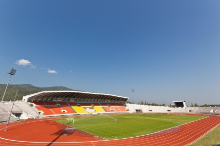 grandstand: F?l Tribuna en 700o aniversario de Sport Stadium en Chiang Mai, Tailandia. Editorial