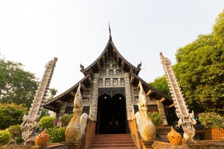 molee: Front view of Thai Buddhist Church in Wat Lok Molee at Chiangmai, Thailand.