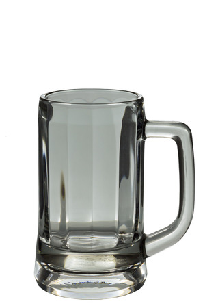 single beer: Single beer glassware on isolate white background
