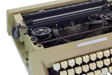 Old Typewriter, isolated on white background photo