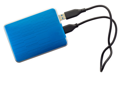 external hard disk drive: External Hard disk drive isolated on white  Stock Photo