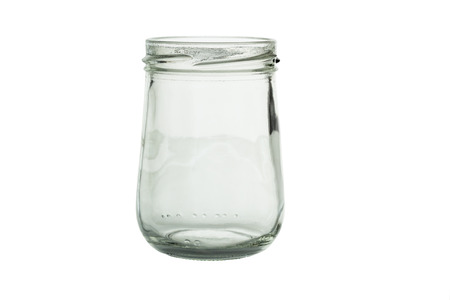 glass containers: Glass jar isolated on white background and clipping path