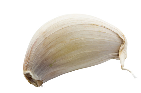 garlic clove: Sing garlic clove isolated on white background and clipping