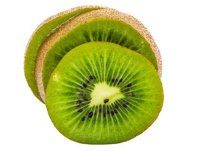 kiwi fruta: Kiwifruit isolated on white background and clipping path