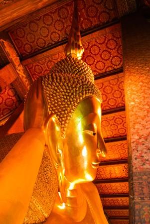The Reclining Buddha at Wat Pho - Bangkok Thailand Stock Photo - 7136157