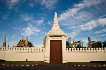 Main gate of the grand palace - Bangkok Thailand photo
