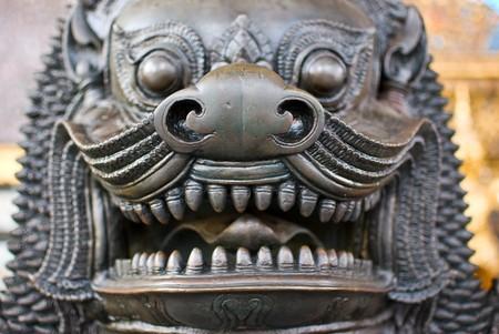The face of Leo statue (Cambodia stye) Stock Photo - 7165445