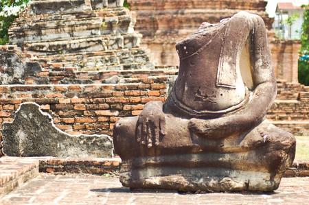 Damaged Buddha image Stock Photo - 7198358