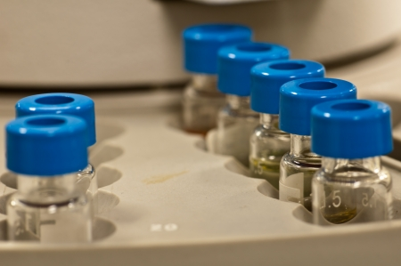 Sample Vials on Autosampler