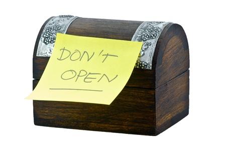 not open: Do not open box Stock Photo