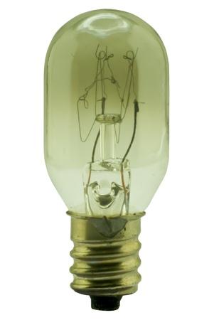 filament: Broken light bulb on white background