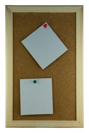 Two paper note on cork board Stock Photo - 17119700