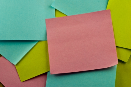 A stack of post-it note Stock Photo - 17160576