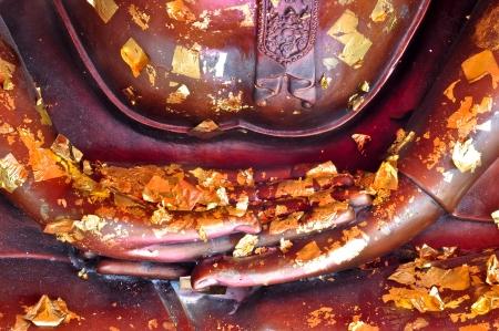 Hands of meditating buddha image Stock Photo - 17160620