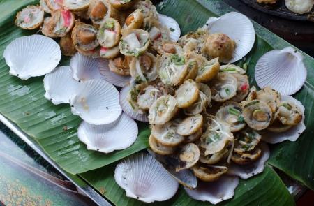 The Thai food, grill shells photo