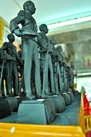 The clay statue of the Thai soldier Stock Photo - 17402625