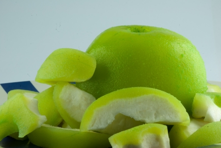 Green unpeeled guava Stock Photo - 17648992