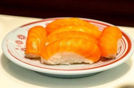 Philadelphia classic  Salmon, Philadelphia cheese, cucumber, avocado, tobiko  Japanese sushi