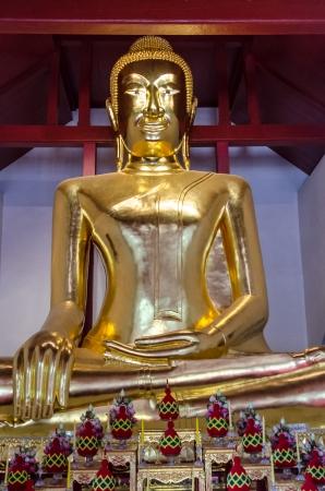 Golden buddha image at Lopburi, Thailand Stock Photo - 18686127