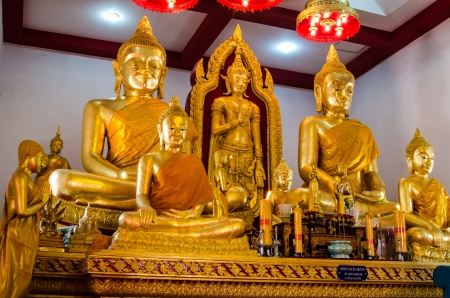 Golden buddha image at Lopburi, Thailand Stock Photo - 18690293