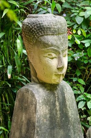 budda: Stone Budda in green garden