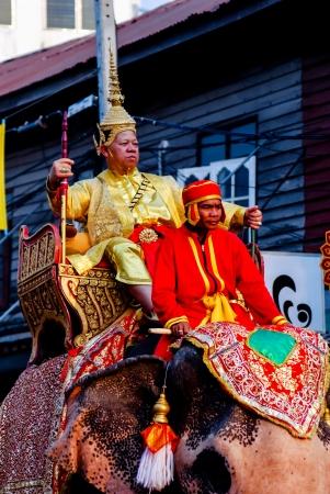 reign: Siamese soldiers traditional show at the King Narai Reign Fair, Lopburi, Thailand