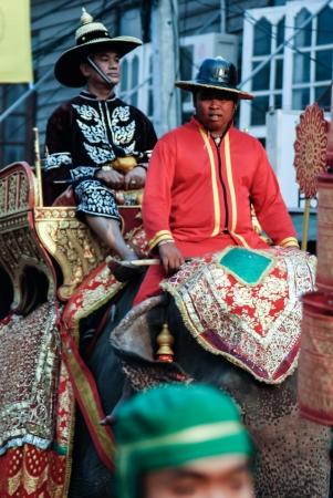 swordfight: Siamese soldiers traditional show at the King Narai Reign Fair, Lopburi, Thailand