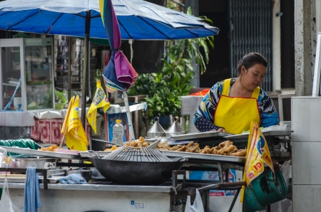 Street vendors in Bangkok, Thailand Stock Photo - 22746056