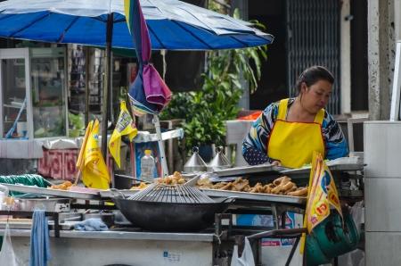 Street vendors in Bangkok, Thailand Stock Photo - 22746056
