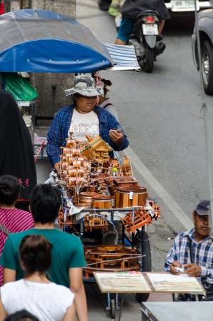 Street vendors in Bangkok, Thailand Editorial