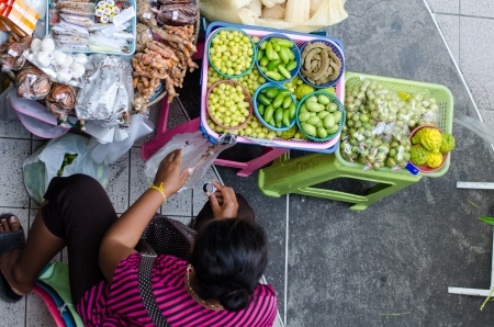 Street vendors in Bangkok, Thailand Editorial