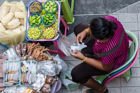 Street vendors in Bangkok, Thailand