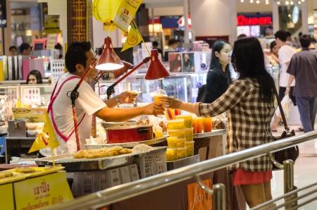 perishable: People buy food street vendors in Bangkok, Thailand Editorial